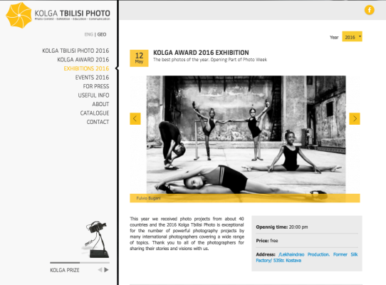 Kolga Tbilisi Photo Award Bugani
