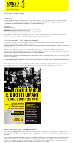 Fulvio Bugani Amnesty International